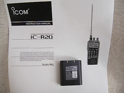 Icom Scanner ? Icom IC R20 ? 1920mA Battery BP-206 Ideal Scanning Receiver Spare