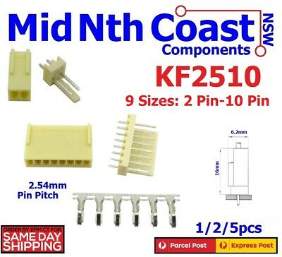 2/5/10pcs x KF2510-2/3Pin 2.54mm PCB Header 2Pin or 3Pin Connector Terminals