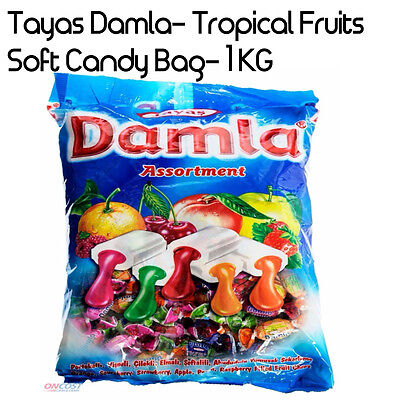 Tayas Damla Candy Tropical Fruits Soft Candy Mixed Fruit Candy 1 Kg