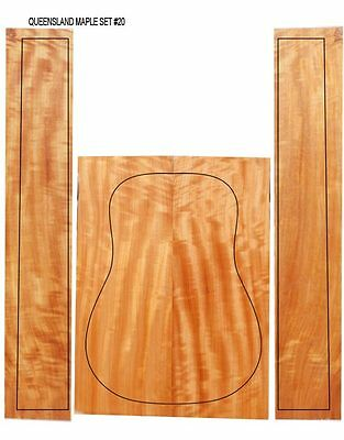 Flamed Queensland (Australian)Maple Acoustic Guitar Back & Sides for Luthier #20
