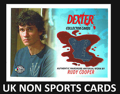 Dexter Seasons 1-2 DC19 Costume Wardrobe Card Rudy Cooper Blue T-Shirt VARIANT