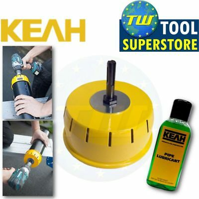 KEAH 110mm Professional Pipe Chamfering Tool Underground Soil Pipes + Lubricant