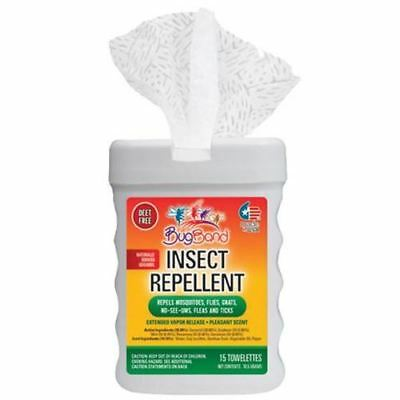 Hot Tub Miscellaneous BugBand 1 Box of Insect Repellent Toweletts (15 Toweletts