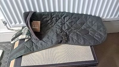 Barbour Quilted Dog Coat Jacket Green Size L Bnwt