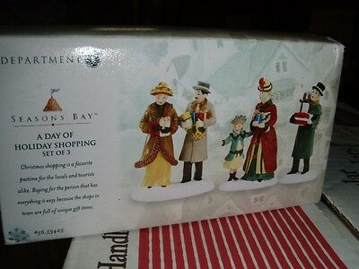 ~~ A Day of Holiday Shopping Set of 3 ~ 53425 ~ New in Box ~ Dept 56 Seasons Bay