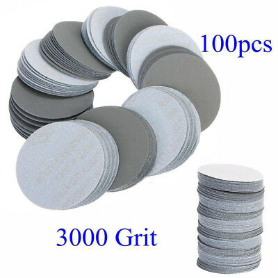 100pcs 3'' 75mm 3000 Grit Sander Disc Sanding Polishing Pad Abrasive Sandpaper