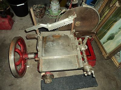 ANTIQUE A.J. Deer Royal Model 50 Red Cast Iron Meat Slicer