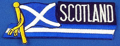 Scotland Flag Patch Embroidered Iron On Applique