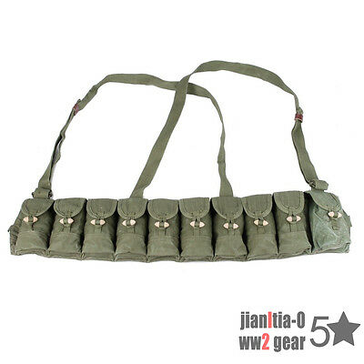 Surplus Chinese Military SKS Type 56 Semi Chest-Rig Bandolier Pouch Ammo