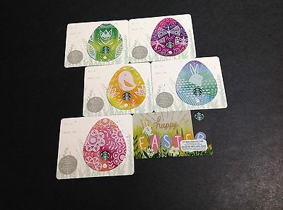 2017 Starbucks Easter Gift Card / Arch Card ----- Lot Of 6 Pcs. ----- New