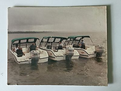 Mckee Craft 3 Side By Side Mariner Boat Promotional Photo On Hard Plastic