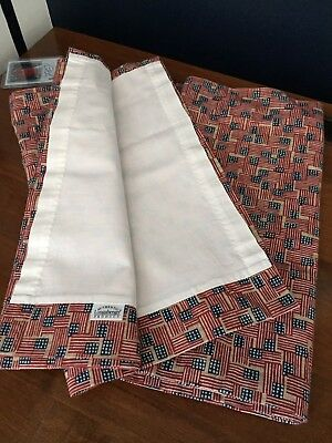 Longaberger Valences Old Glory Set Of Two