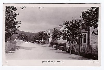 P3490 Original old RP postcard of Orchard Road, Forres