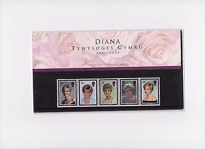 Rare 1997 Diana Of Wales  Welsh Presentation Pack & Insert