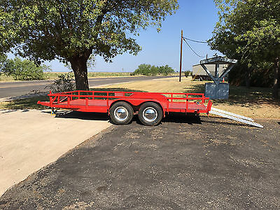 "16' Shopmade Tandem Axle Trailer with Aluminum Loading Ramps, 76"" Inside Width"