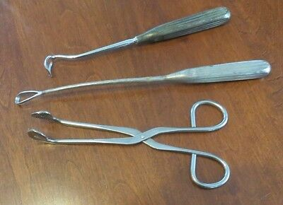 Vintage Lot of 3 Sklar Ob/gyn Obstetrical Instruments