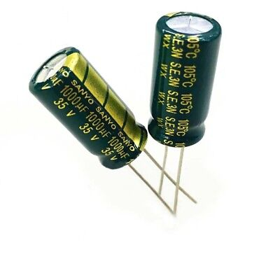 10PCS 35V 1000uF High Frequency LOW ESR Radial Electrolytic Capacitor 10x20mm