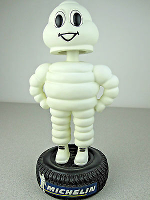 """7"""" Michelin Man Bobblehead Standing On Tire Advertising Michelin Tires Mascot EX"""