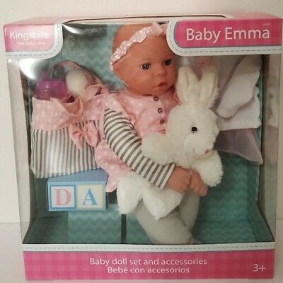 Kingstate the Doll Crafter Baby Born Emma With Accessories Kids Girls toys Gift