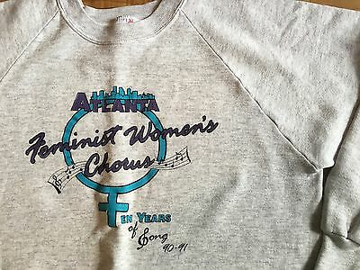 Atlanta Georgia Feminist Women's Chorus 90-91 vintage L Jerzees rights heather