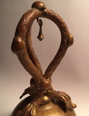 Fine Old Intricately Decorated Bronze Victorian bell