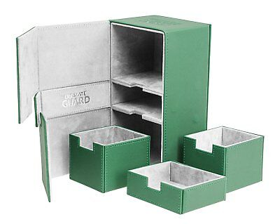 200 Card Twin Flip N Tray Xenoskin Deck Case, Green