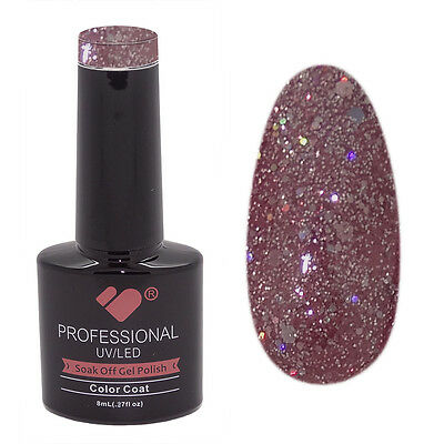 846 VB Line Purple Silver Glitter- nail gel polish - UV/LED 8ml bottle