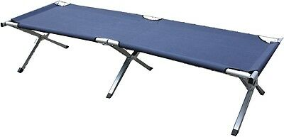 Camp Cot Camping Bed in Blue 190 x 64 cm
