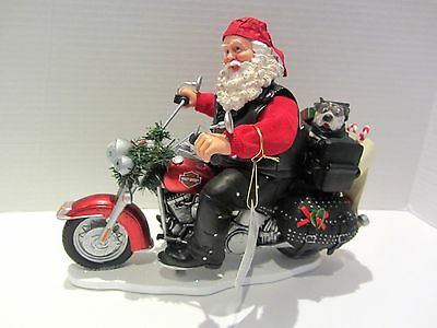 Possible Dreams Santa Boughs of Harley Figurine 4046506 Harley Davidson Dept 56
