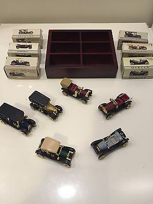 Reader's Digest Diecast Collectible Cars and Wood Display Case
