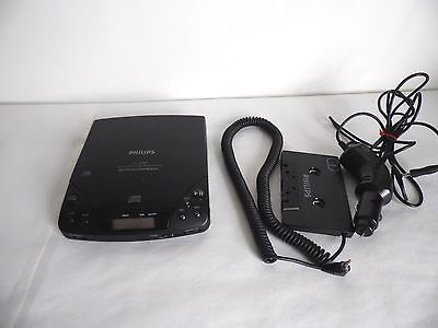 Philips AZ 6882 Personal Cd Player With Car Cassete & Cd Adapter Retro/Vintage
