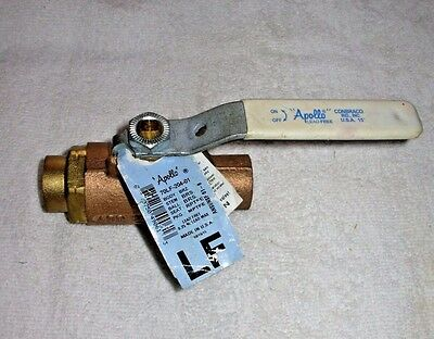 "Apollo Conbraco 3/4"" Brass Ball Valve Lead Free Sweat 70Lf-204-01 Free Fast Ship"