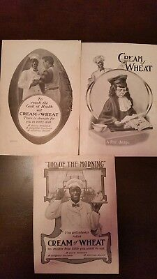 lot of three  vintage Cream of Wheat Ads
