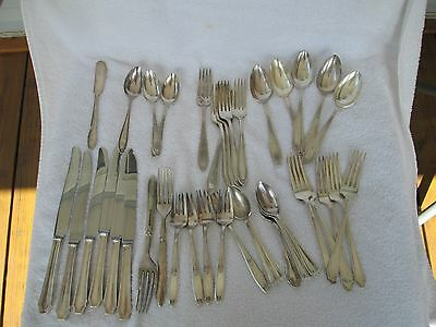 38 PIECE =Mixed Lot of Old Vintage/Antique Silverplated Rogers +Oneida>NICE SET