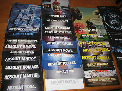 Lot of DUPLICATE Absolut Vodka Print Ads 100 in total