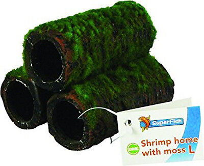 Superfish Shrimp Home Tubes Artificial Moss Pyramid Hide Cave Decor - Large