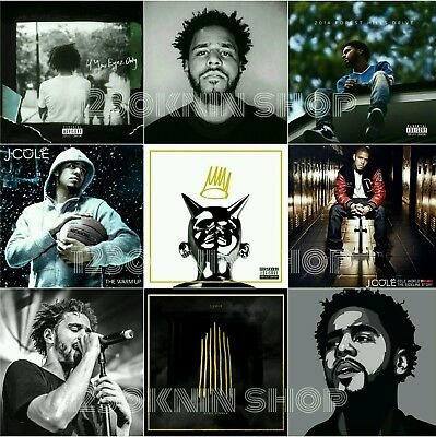 J Cole Forest Hills Drive Born Sinner Eyez Only Collage Poster 20×20 24×24 32×32
