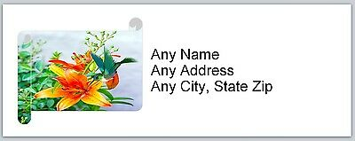 Personalized Address Labels Hummingbird Buy 3 get 1 free (ac718)