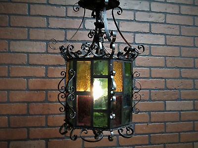 "Vintage Antique Spanish Revival Gothic California Mission Chandelier 18 1/2"" T"