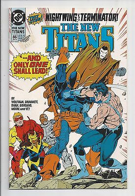 The New Titans #86 : Near Mint 9.4 : First Print : Deathstroke v Nightwing