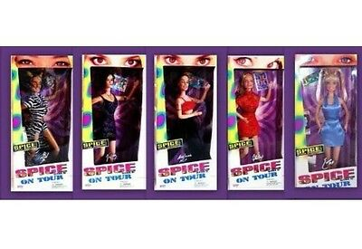Spice Girls On Tour Series [Complete Set] 5 Dolls Brand New In Box!