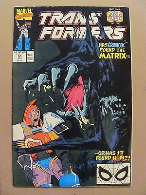 Transformers #65 Marvel Comics 1984 Series