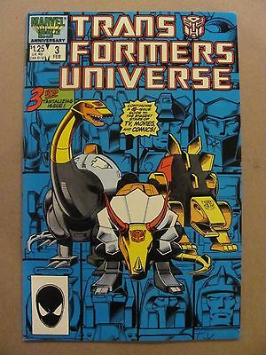 Transformers Universe #3 Marvel Comics 1986 Series 9.2 Near Mint-