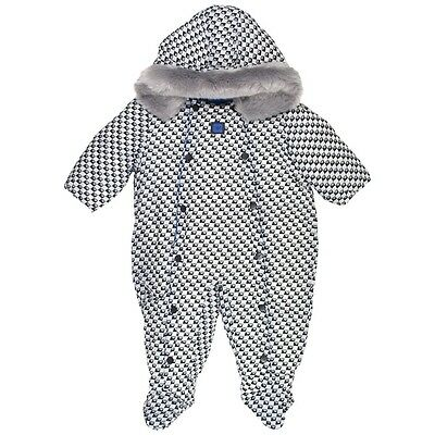 ARMANI BABY Padded Woven Suit in Navy Size 3M