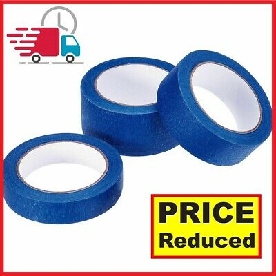 Blue Masking Tape Clean Peel UV Resistant Painters/Decorators 24mm-48mm x 45m