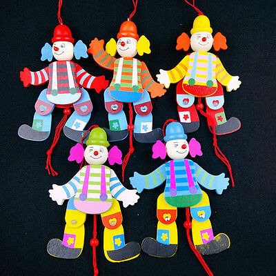 1PC Cute Cartoon Marionette Puppet Toy Crafts Clown Pull People Tackle Random