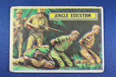 1965 Topps Battle Cards - #37 Jungle Execution - Poor/Fair Condition