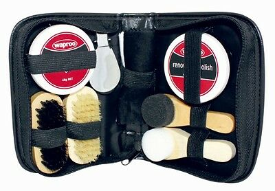 Waproo Deluxe 9 Piece Shoe Care Kit