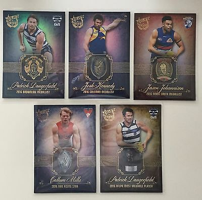 2017 AFL Select Certified Medal Winners Set MW1-MW5