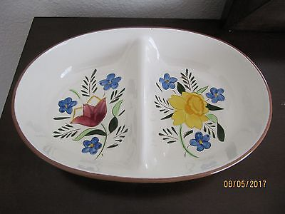 Stangl Pottery Divided Serving Dish Bowl --- Country Garden